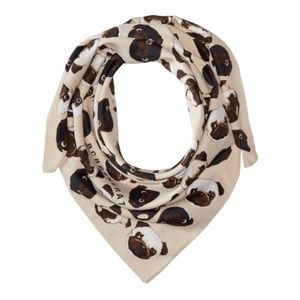 BCBGeneration Women's Pug Frenchie Kisses Scarf